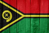 Holzzaun mit der flagge vanuatus auf es gemalt — Stockfoto