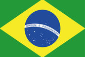 Illustrated Drawing of the flag of Brazil — Stock Photo