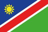 Illustrierte zeichnung der flagge namibia — Stockfoto