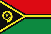Illustrated Drawing of the flag of Vanuatu — Stock Photo