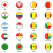 Stock Photo: Vector World Flag Buttons - Pack 2 of 8