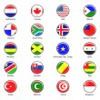Vector World Flag Buttons - Pack 4 of 8 — Foto de Stock