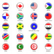 Vector World Flag Buttons - Pack 4 of 8 — Stock Photo