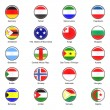 Vector World Flag Buttons - Pack 6 of 8 — Stock Photo #19214715