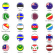 Royalty-Free Stock Photo: Vector World Flag Buttons - Pack 7 of 8