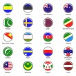 Vector World Flag Buttons - Pack 7 of 8 - Stock Photo