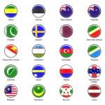 Vector botões de bandeira do mundo - pack 7 de 8 — Fotografia Stock  #19214737
