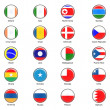 Vector World Flag Buttons - Pack 3 of 8 - Stock Photo