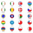 Vector World Flag Buttons - Pack 3 of 8 — Stock Photo