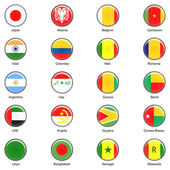 Vector World Flag Buttons - Pack 2 of 8 — Stock Photo