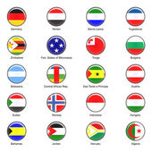 Vector World Flag Buttons - Pack 6 of 8 — Stock Photo