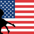 Illustrated flag of the United States of America — Stock Photo