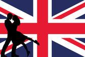 Una bandiera illustrata del regno unito — Foto Stock