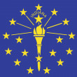 Stock Photo: Flag of AmericState of Indiana