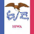 Flag of the American State of Iowa - 图库照片
