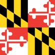 Flag of the American State of Maryland — 图库照片
