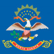 Flag of the American State of North Dakota — Stockfoto #24075123