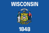 Flag of the American State of Wisconsin — Stock Photo