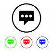 Messaging Icon Illustration with Four Color Variations — Stock Photo #39343683