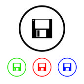 Disk Icon Illustration with Four Color Variations — Stock Photo