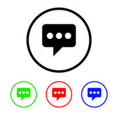 Messaging Icon Illustration with Four Color Variations — Stock Photo