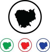 Icon Illustration with Four Color Variations — Stock Photo
