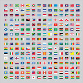 Over 200 Flags of the world — Stock Photo