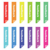 Colorful feedback bookmarks — Stock Photo