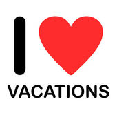 Font Type Illustration - I Love Vacations — Stok fotoğraf