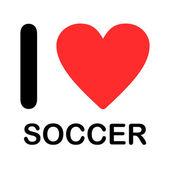 Font Type Illustration - I Love Soccer — Stock Photo