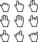 Illustration of Pixelated Hand — Stock Photo