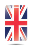 Illustration of ID Card with the Flag of the United Kingdom — Stock Photo