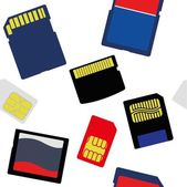 Illustration of Selection of Memory and SIM Cards — Stock Photo