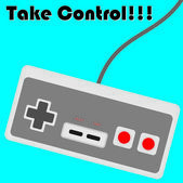 Illustration of Vintage Console Controller — Stock Photo