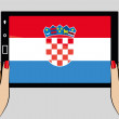 Tablet computer with the flag of Croatia — Stock Vector #51234663