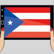 Tablet computer with the flag of  Puerto Rico — Stock Vector #51234843