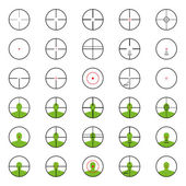 Crosshairs set with red sights. Each crosshair in seperated laye — Stock Photo
