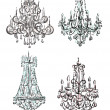 Chandelier raster drawings - Stock Photo