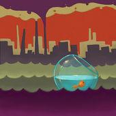 иллюстрация загрязнения — Стоковое фото