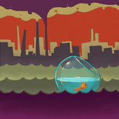 Illustration de la pollution — Photo