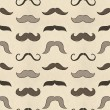 Stock Photo: Seamless mustache pattern