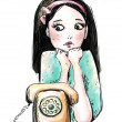 wachten op een oproep — Foto de Stock