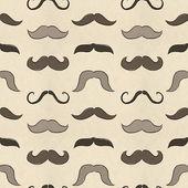 Seamless mustache pattern — Stock Photo