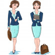 Business woman vector cartoon — Stock Vector