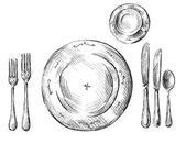 Réglage de la table — Vecteur