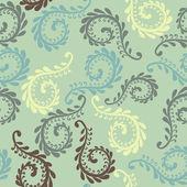 Vector fern seamless pattern — Stock Vector