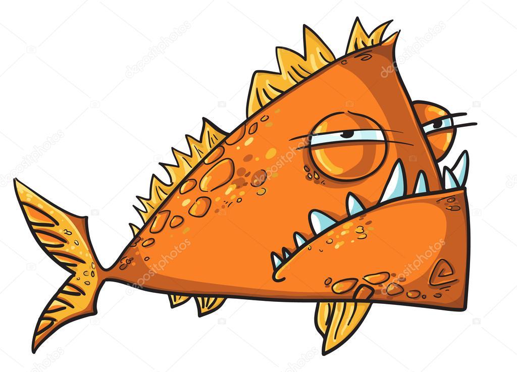 Grote boze vis cartoon stockvector kamenuka 14187177 for Big fish script