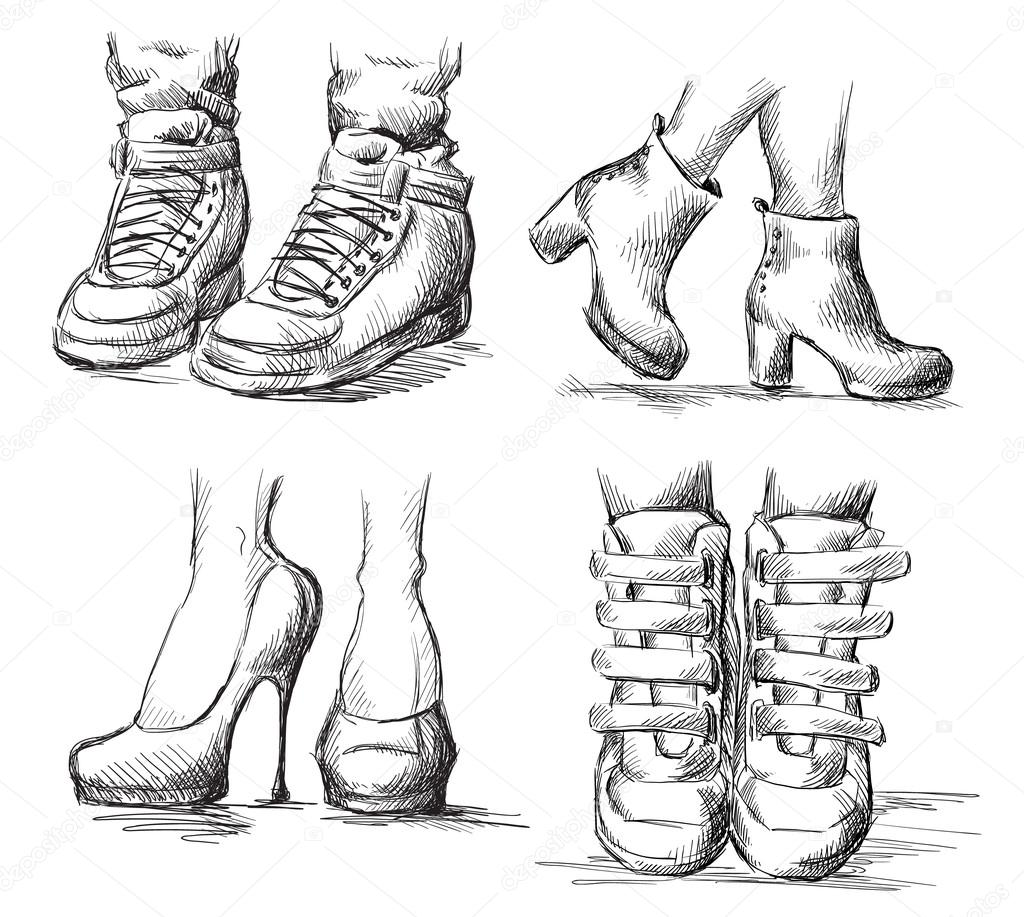 how to draw small boots
