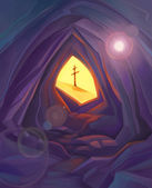 Easter. Resurrection. Christian symbol illustration. — Stock Photo