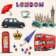 London symbols. Set of drawings. — Stock Vector #27217435